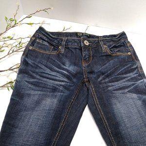 ZCO Embellished Flare Leg Jeans Dark wash